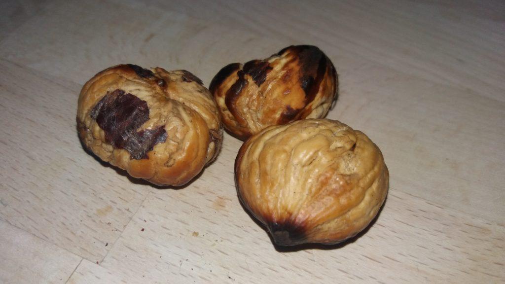 Baked chestnut