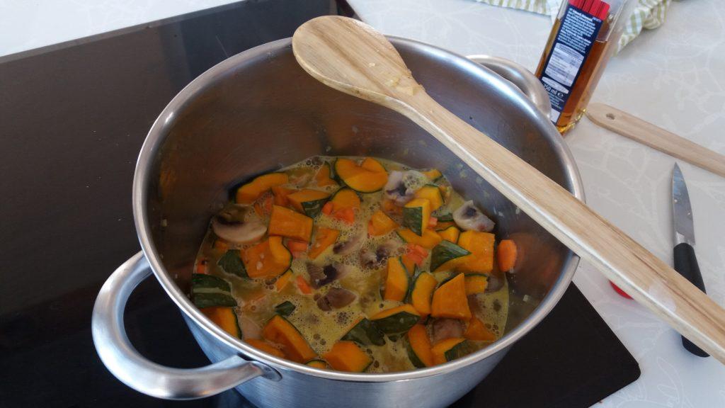 Cooking Pumpkin Broth